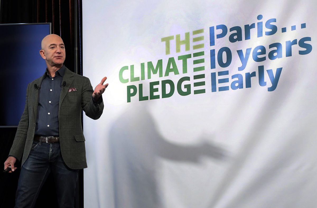 Amazon named the first recipients of capital from its $2 billion Climate Pledge Fund, while Walmart set a new zero emissions goal for 2040.