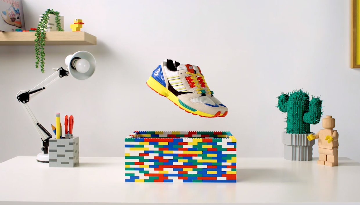 Adidas is partnering with Lego to launch a primary-colored limited-edition sneaker that's the latest installment of this year's A-ZX series.
