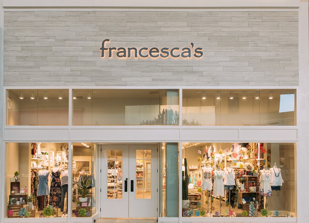 Specialty women's apparel retailer Francesca's is considering options like bankruptcy while adding tween-friendly products and loungewear.