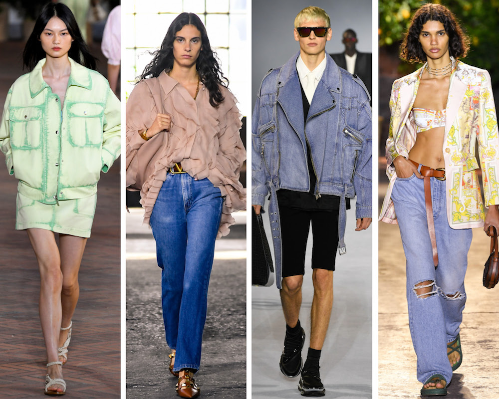 The Spring/Summer 2021 collections presented during London, Milan and Paris fashion weeks resuscitated denim from its so-called loungewear-induced demise by showcasing designer jeans in wearable yet covetable ways.