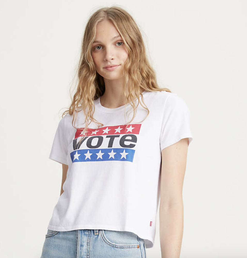 Rivet rounded up denim brands' voter-themed offerings and the steps they're taking to support relevant organizations throughout the U.S.