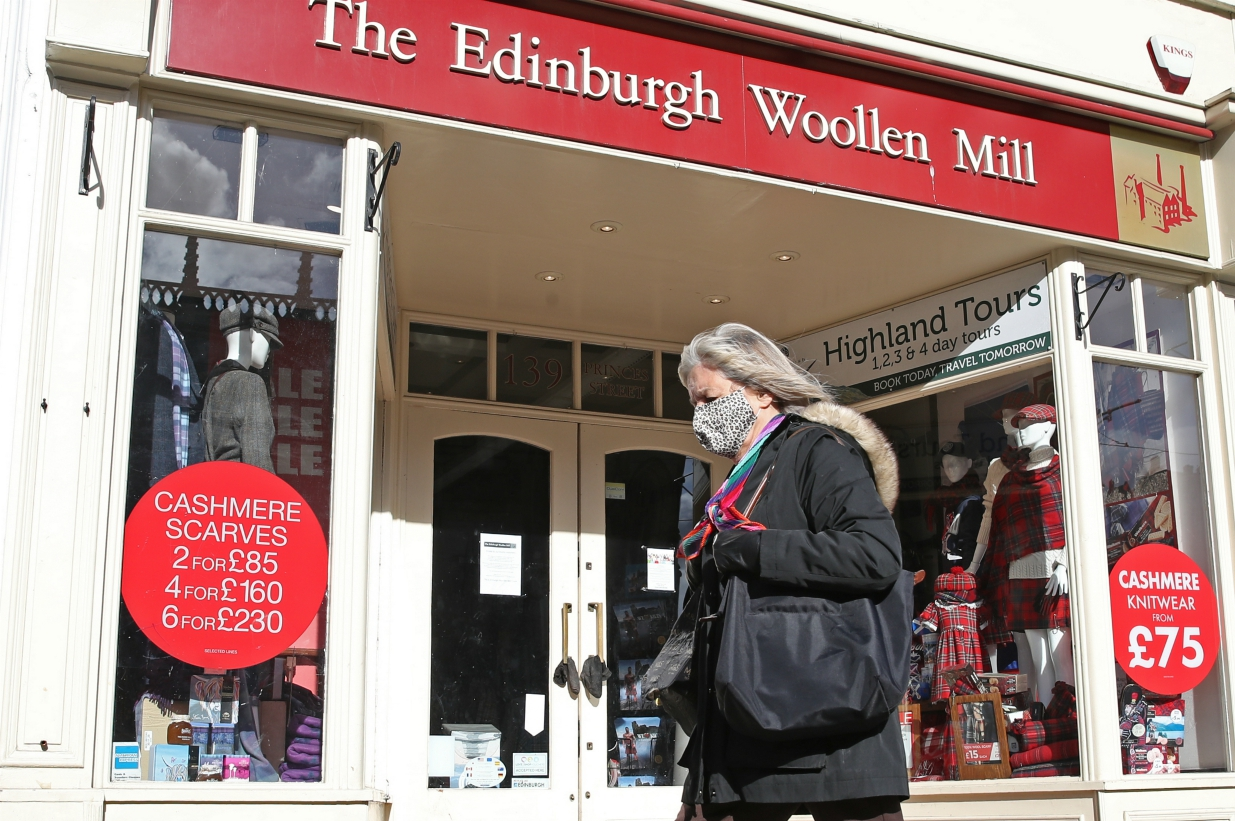 Knitwear retailer Edinburgh Woollen Mill Group on Friday filed a notice of intention that it plans an administration, or bankruptcy, filing.
