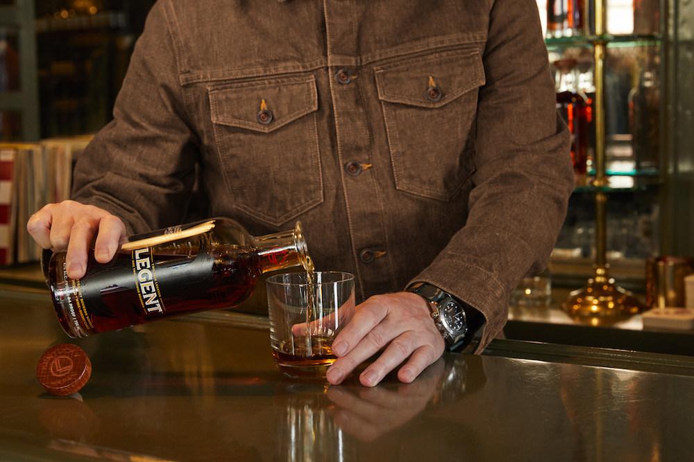 "Men's wear brand Todd Snyder debuted a limited-edition ""bourbon selvedge denim jacket"" in collaboration with premium bourbon brand Legent."
