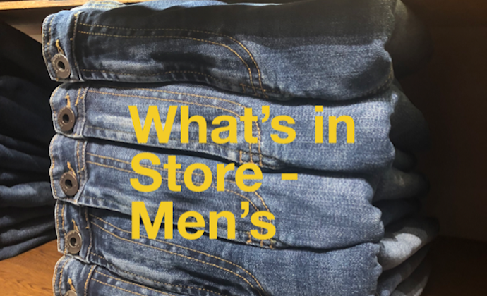 Carved in Blue What's in Store Men's