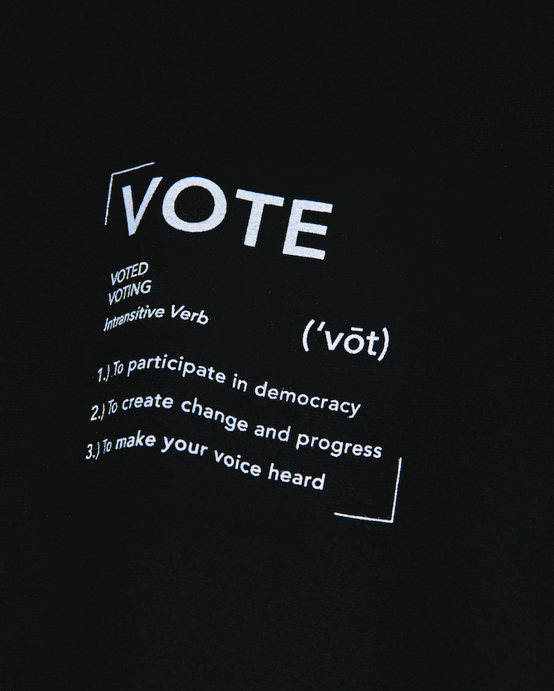 AG Jeans, Citizens of Humanity and Agolde released T-shirts encouraging consumers to vote in the upcoming U.S. presidential election.