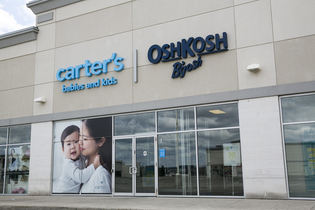 "Carter's plans to open 100 ""co-branded"" Carter's and OshKosh B'Gosh stores over the next five years."