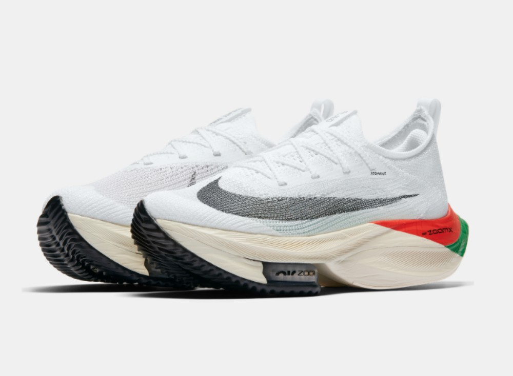 The Nike Air Zoom Alphafly Next% in the Kenya color way was inspired by the colors of the country's flag.