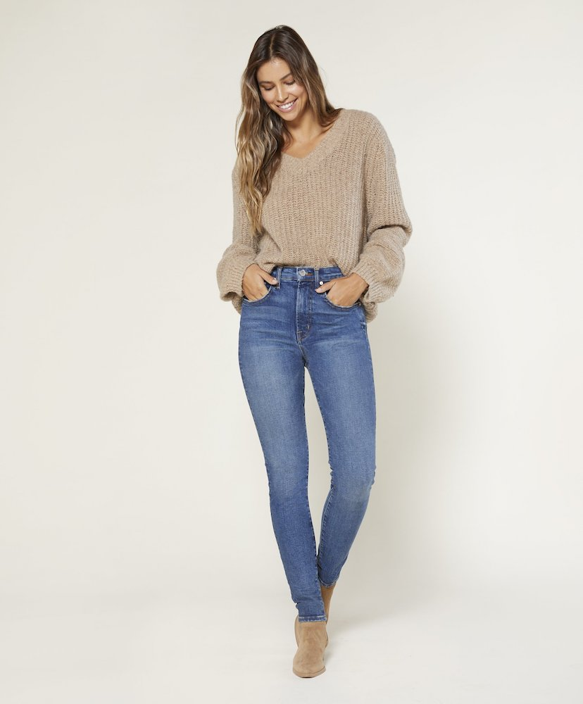 Apparel brand Outerknown introduced Iconoclast high rise skinny jeans for women, featuring Candiani's Coreva biodegradable stretch denim.