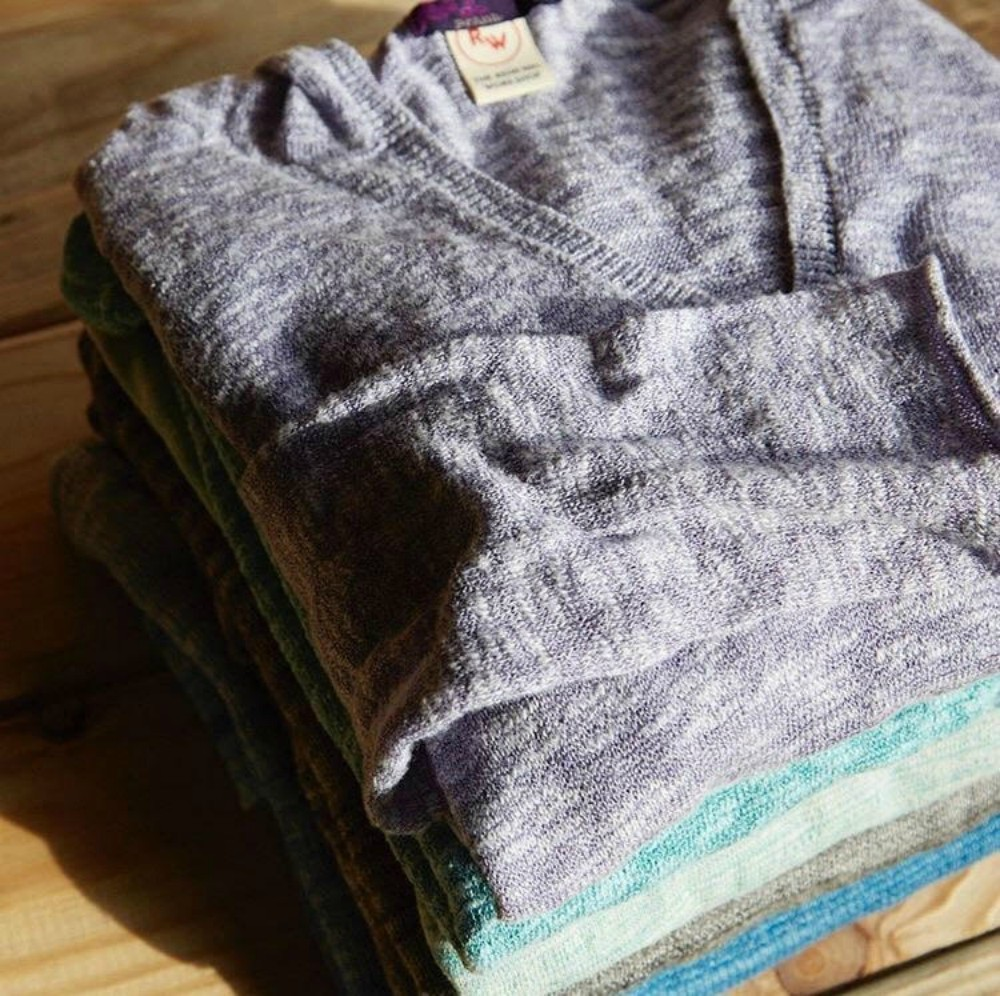 Prana sweaters revived for sale from The Renewal Workshop.