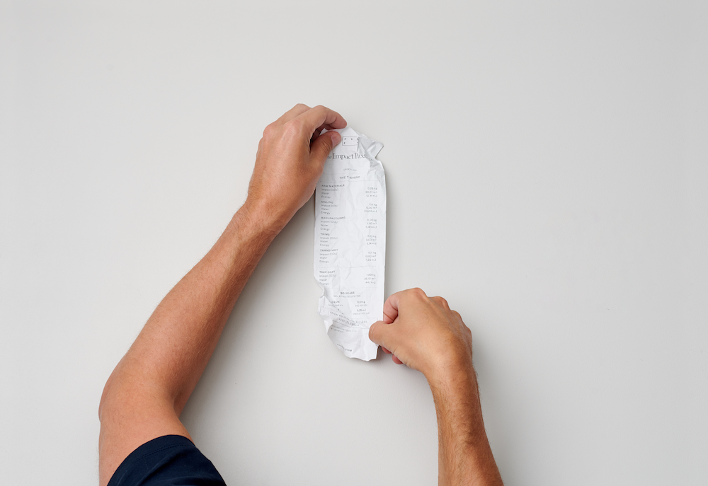 Swedish brand Asket recently introduced The Impact Receipt, a detailed consumer-facing breakdown of a garment's true environmental impact.