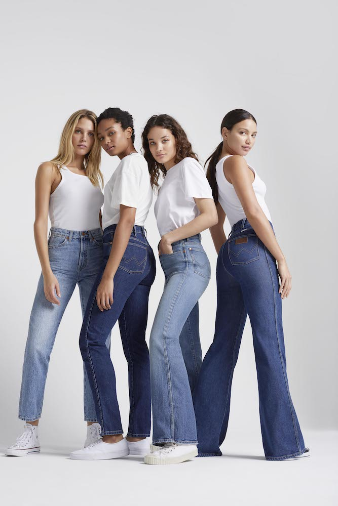 Kontoor-owned Wrangler dropped a heritage denim collection for women featuring six sustainable high-rise jeans styles for Fall/Winter 2020.