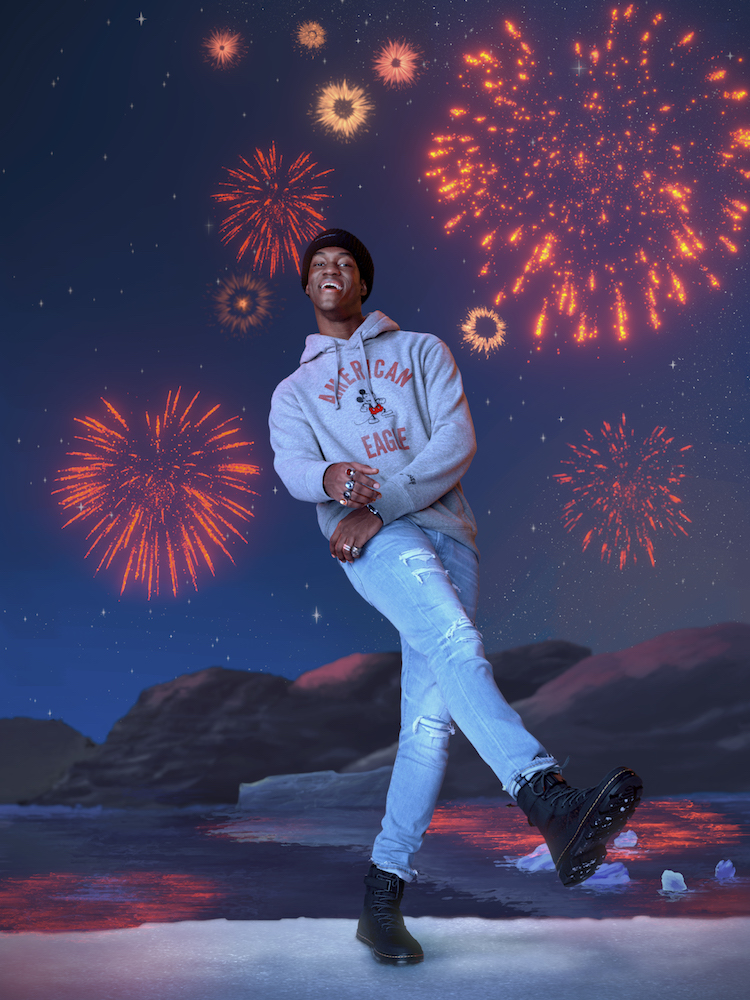 American Eagle launched its first-ever collaboration with Disney featuring holiday and vintage-themed tees, pajamas and jeans.
