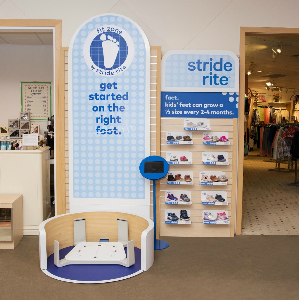 Twenty Dillard's stores now have Stride Rite's Fit Zone tech