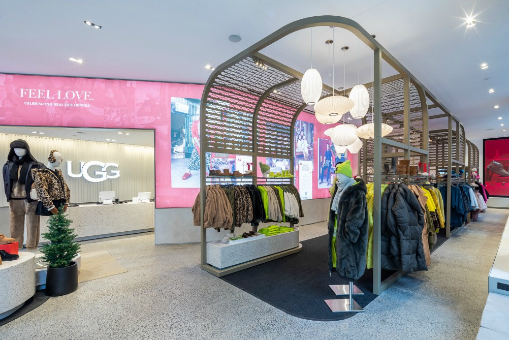 Deckers Brands-owned Ugg is offering a wide collection of footwear, ready-to-wear and accessories at its new Manhattan flagship store.