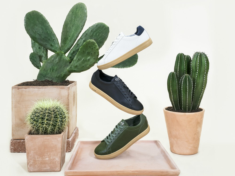 On Friday, Los Angeles-based sneaker brand Clae debuted a lace-up sneaker made from cactus leather cultivated in Mexico by Desserto.