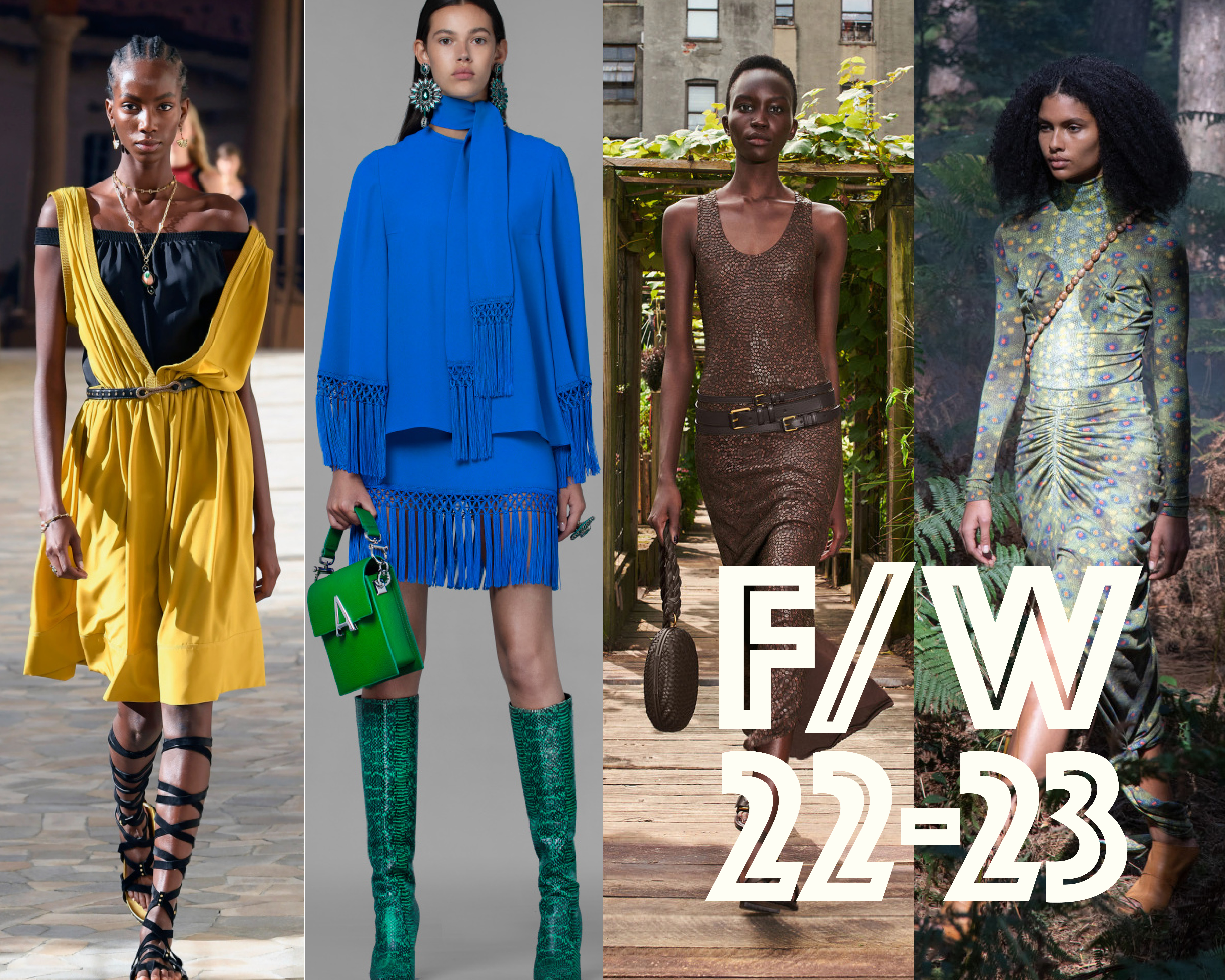 Soothing yet conservative evergreen colors make up global trend forecasting agency WGSN's forecast for Fall/Winter 22-23.