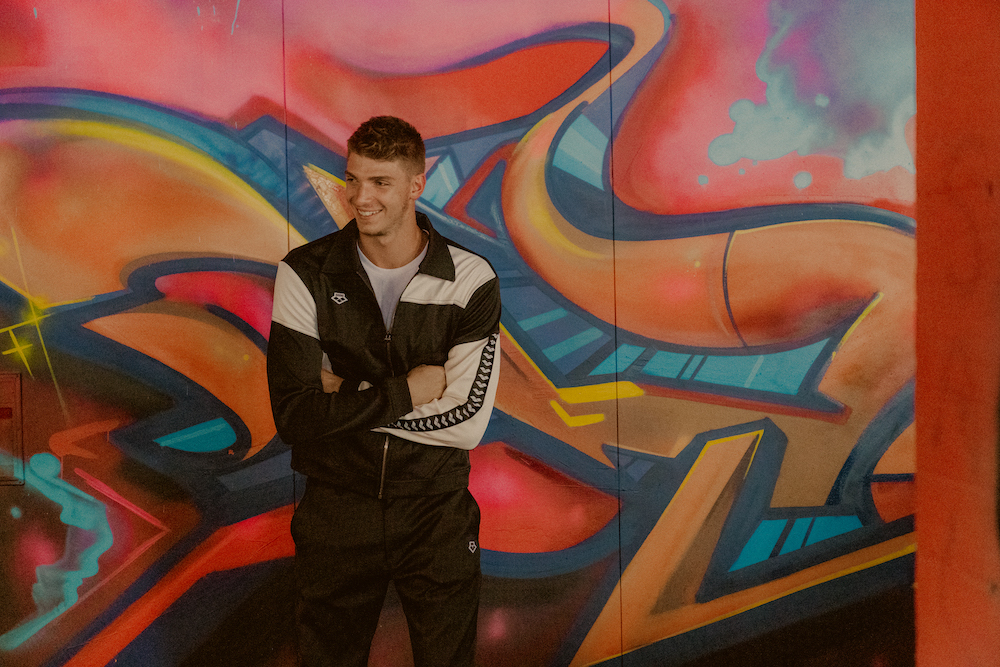 Turkish denim mill Isko partnered with sport waterwear company Arena on an '80s-inspired collection that merges denim with athleisure.
