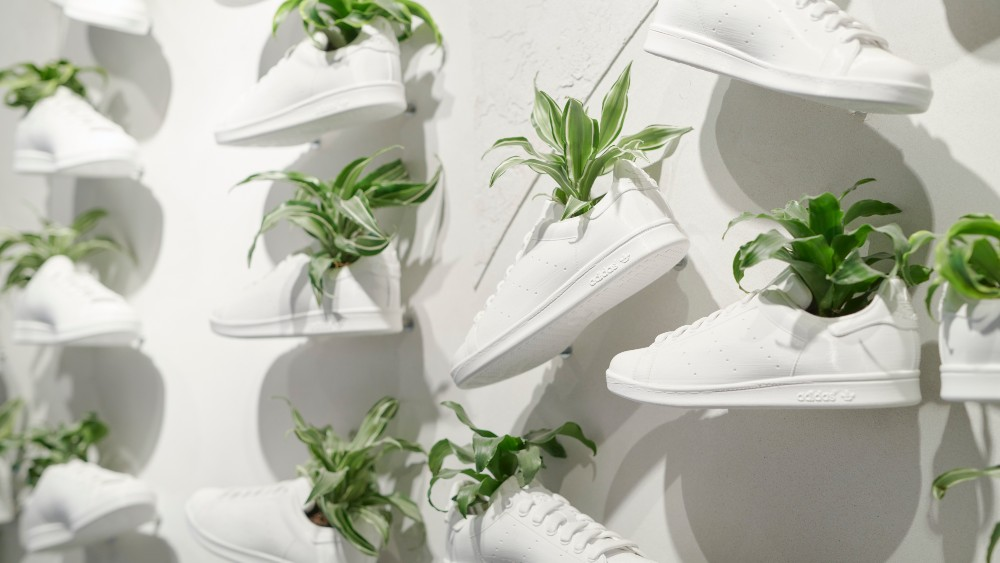 Adidas outlined it sustainability plans, which include using vegan materials, as it did for its Stan Smith rerelease