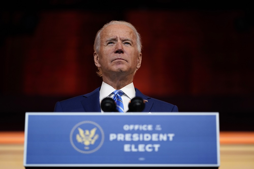 President-elect Joe Biden told the New York Times he won't remove tariffs imposed by President Trump on China, at least not right away.