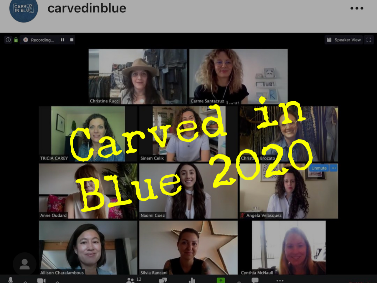Carved in Blue 2020