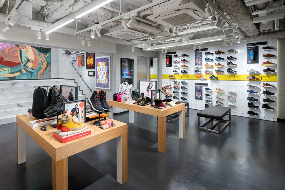 Located in Tokyo's Harajuku district, Grandshop Cat Street sells a range of Cole Haan footwear, such as Zerogrand Performance Running shoes.