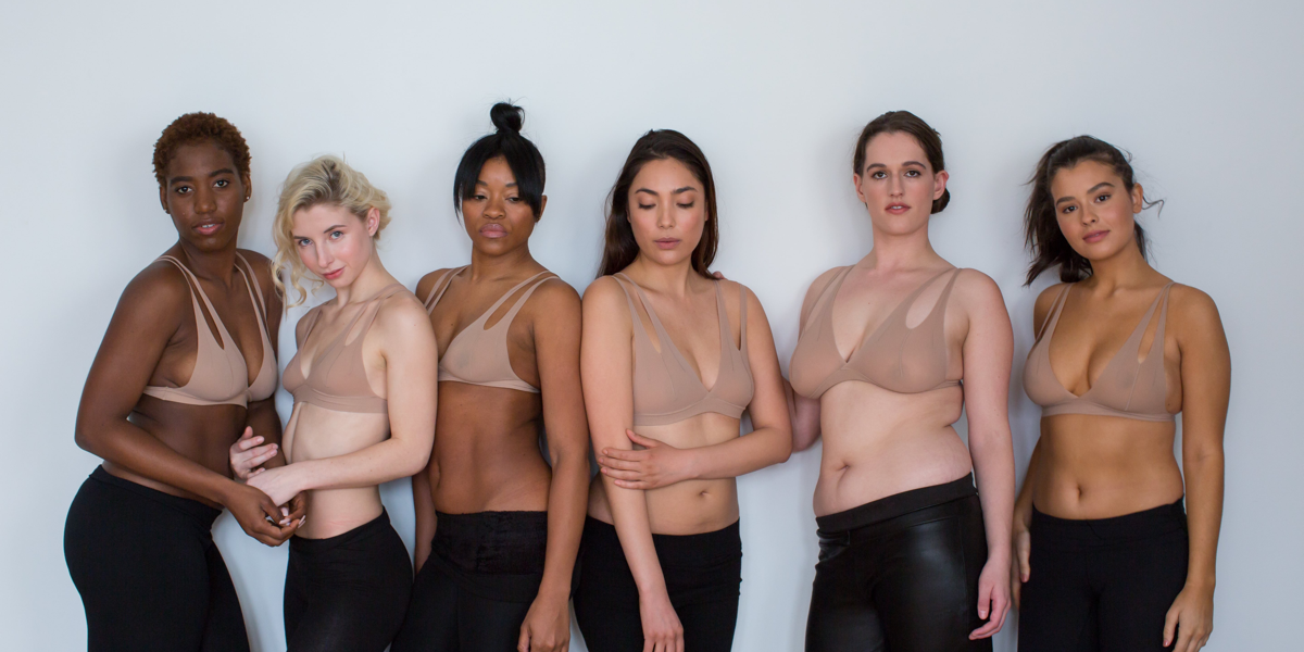 "Nuudii's Tee System, which CEO and founder Annette Azan says ""is not a bra, but an innovation in utility and fashion"" can be worn more than 12 ways, and is designed to keep the wearer's unique and natural shape."