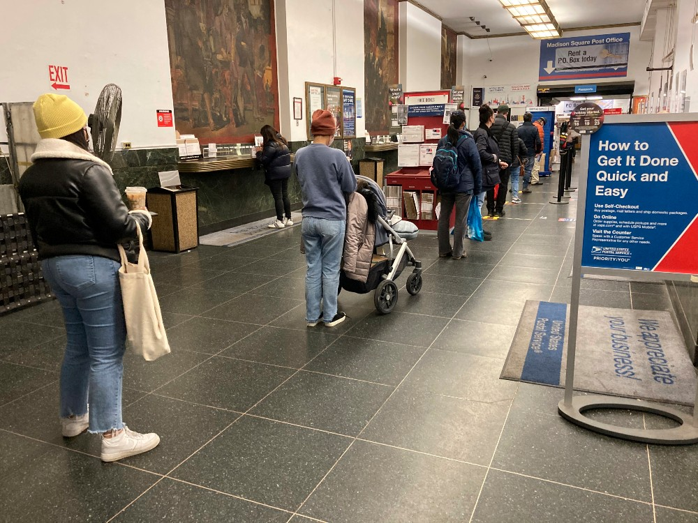 Post offices have seen long lines throughout the holiday season.