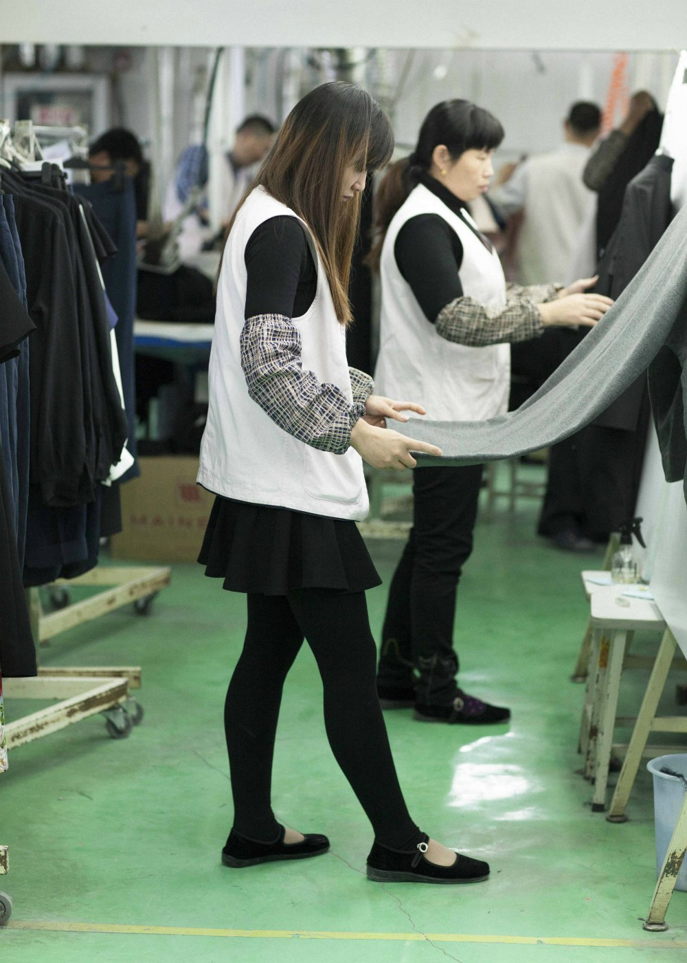 Workers at Everlane's partner factory in China, Suzhou Marconi Garment Co., Ltd.