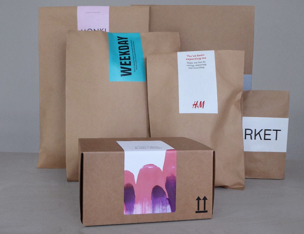 Hennes and Mauritz Group is swapping plastic bags for reusable, recyclable certified paper packaging for some online fashion orders.