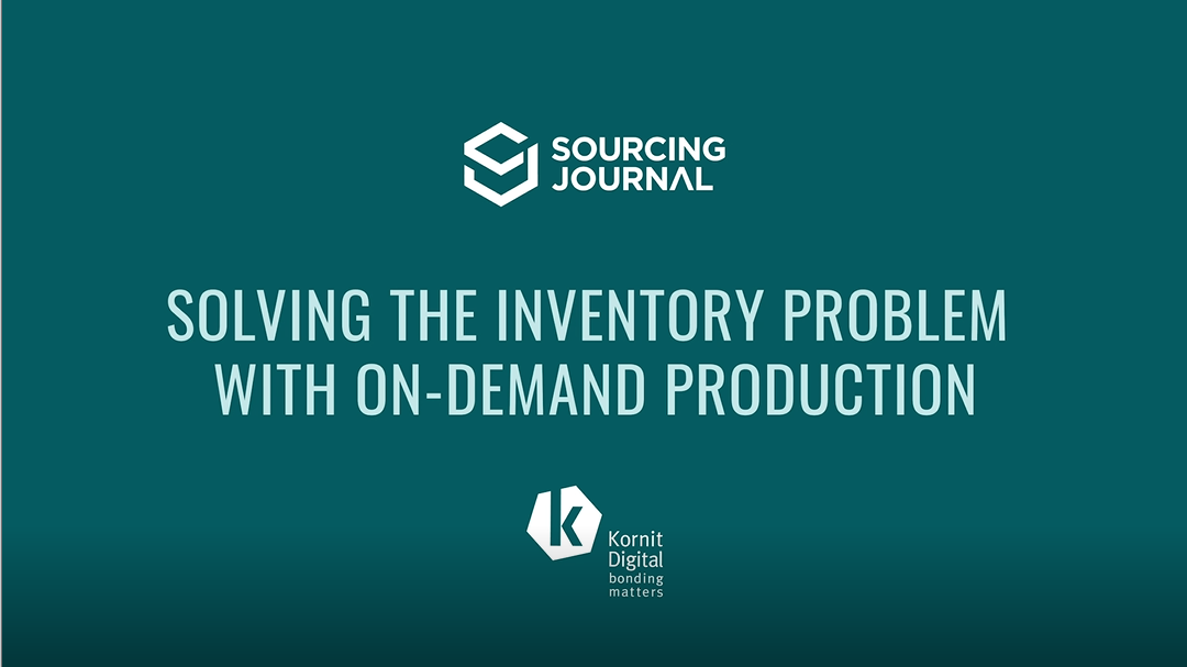 On-demand garment manufacturing is the next step to ensuring apparel's supply-chain sustainability, says Kornit Digital CMO Omer Kulka.
