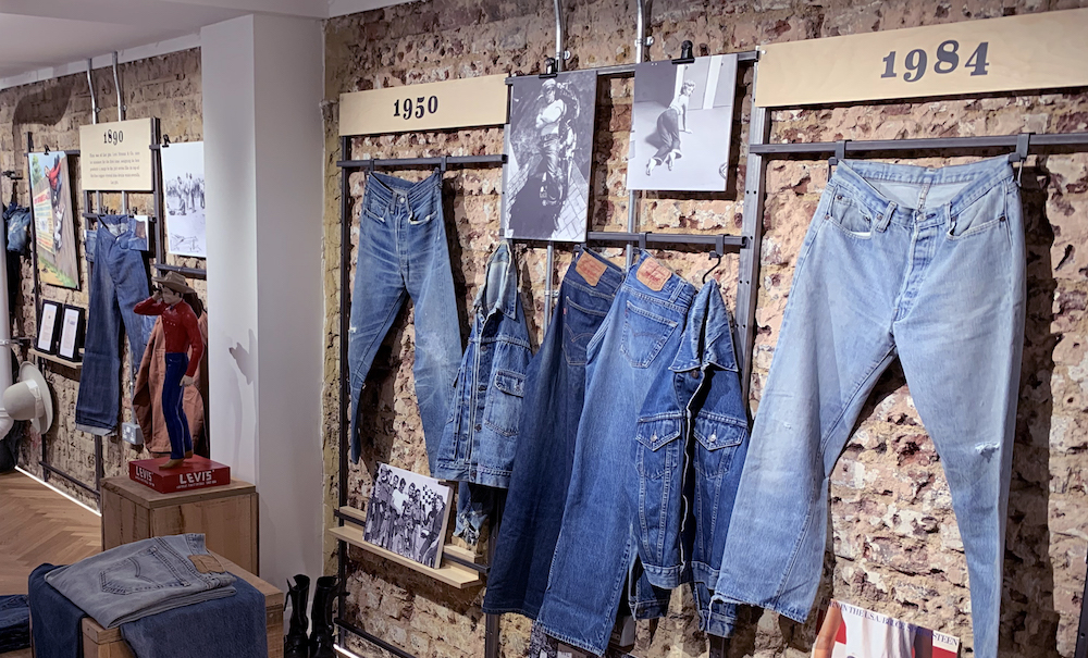 Levi's opened its first-ever satellite archive in London, focusing on denim garments and jeans artifacts with a local flavor.