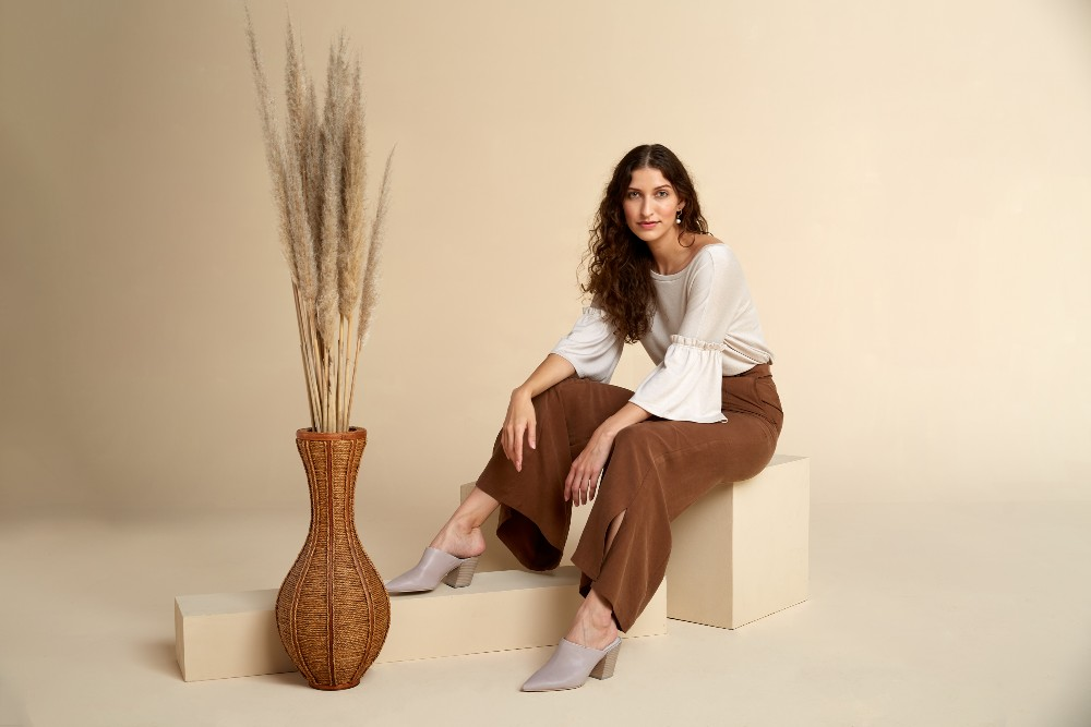 Akala's Everyday pant and Reversible Neckline Sweater.
