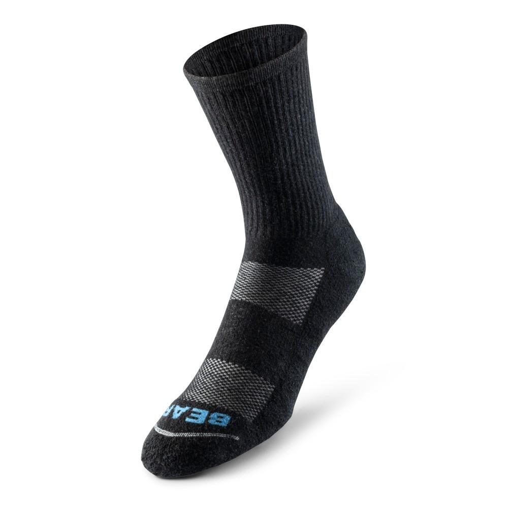 Bear Fiber's crew socks are 21 percent hemp, 49 percent organic cotton, 26 percent recycled nylon and 4 percent spandex