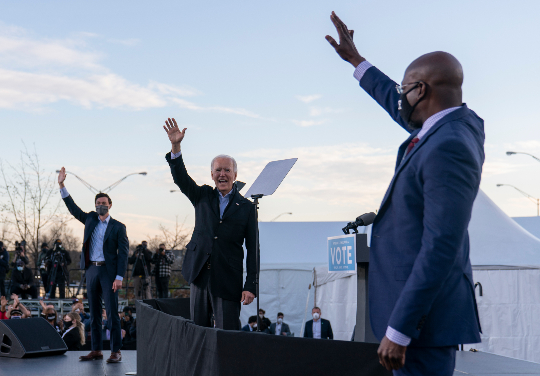 A Blue Wave win for US Democrats moves closer to fruition, easing President-elect Joe Biden's push forward on his Build Back Better Plan.