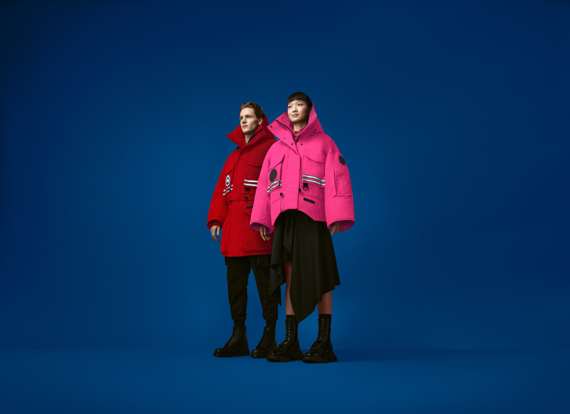 Canada Goose uses AR and computer-generated imagery to illustrate its first-ever fashion capsule with rising Chinese designer Angel Chen.