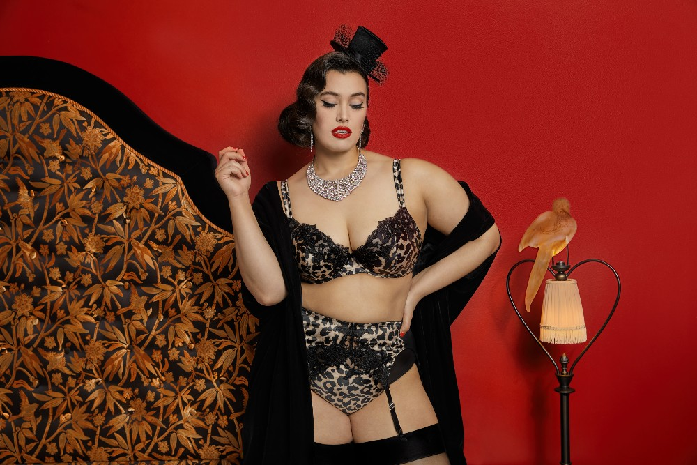 Dita Von Teese and her partner AB Enterprises teamed up with plus-size intimates brand Playful Promises to launch a size-inclusive lingerie collection