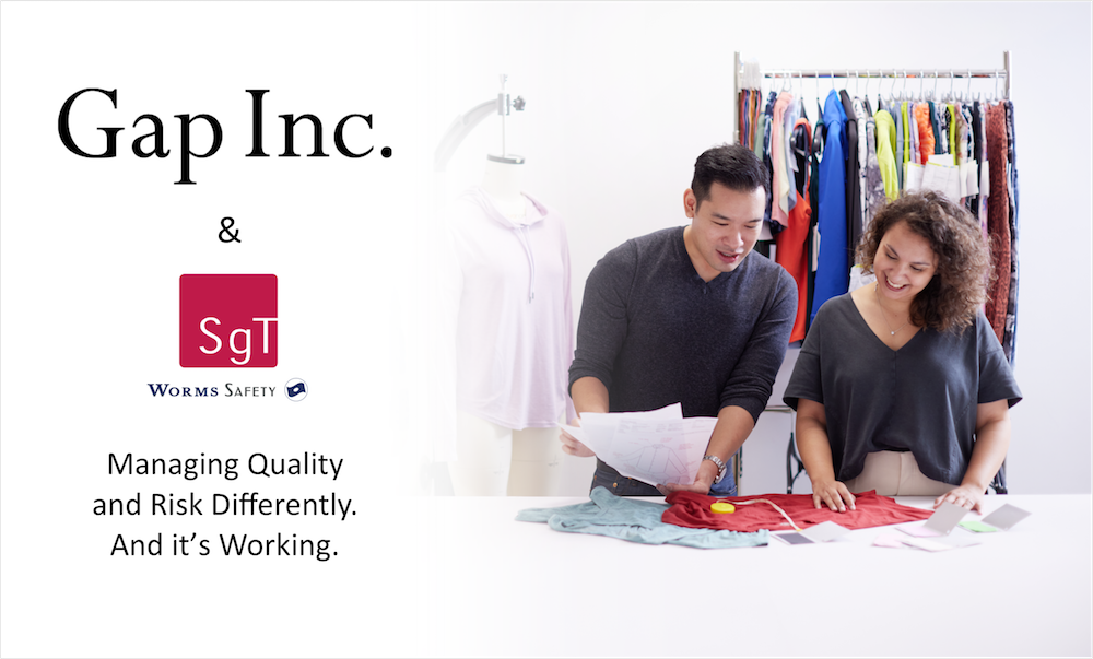Gap is ahead of the game by employing new practices with SgT that ensure critical quality control at the right moment during product development.