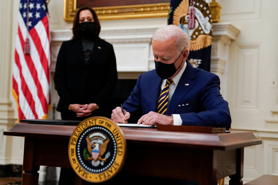 President Biden moved quickly with a flurry of executive orders to help fight the Covid-19 pandemic and get the economy back on track.