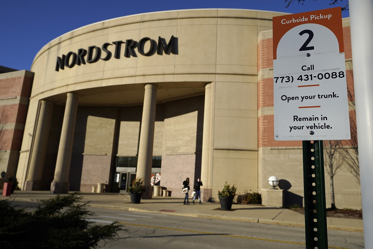 "Curbside pickup is one of numerous omnichannel fulfillment offerings at Nordstrom, which got a 96 percent total ""connected retail"" score from CI&T."