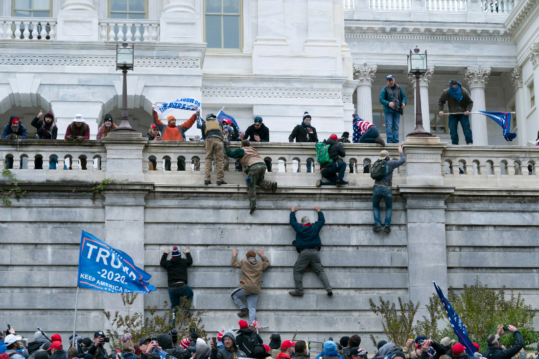 Dems got a Blue Wave win, but chaos ruled as pro-Trump mob stormed the Capitol, interrupting the certification of Electoral College votes.