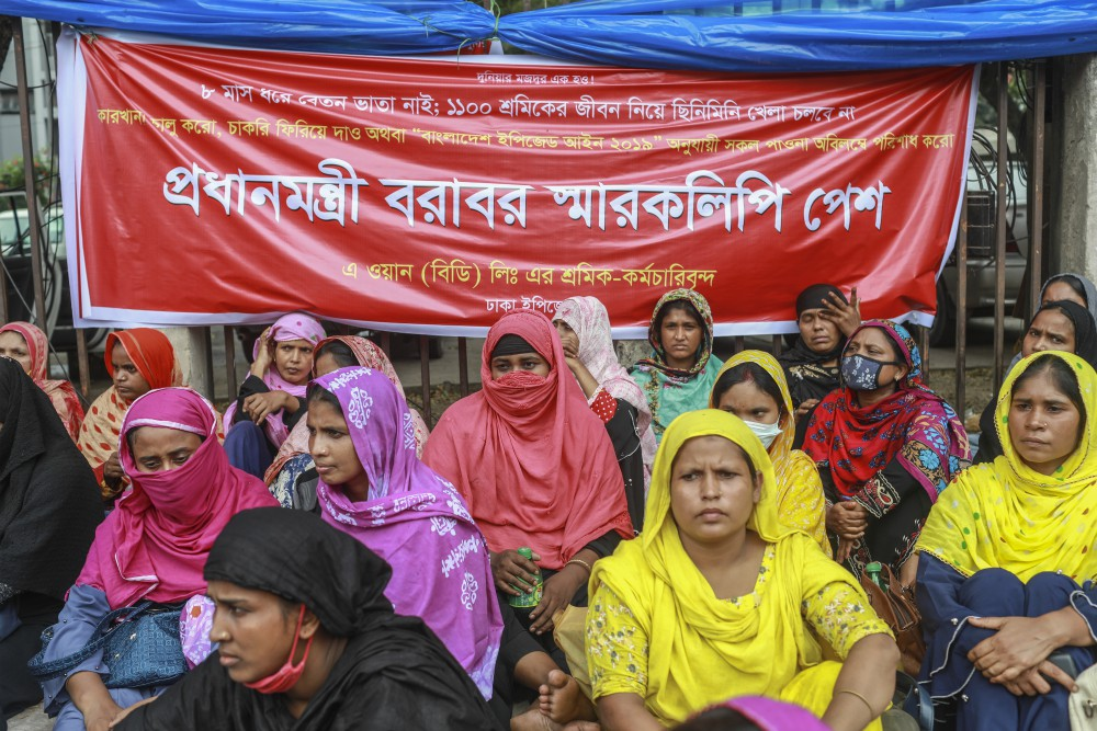 Union leaders are urging the Bangladesh government to reject an appeal to freeze a planned 5 percent hike in the minimum wage.