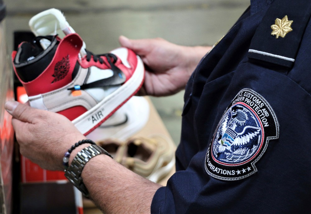 Counterfeit Nike sneakers are among the more commonly seized items by CBP and other law enforcement agencies.