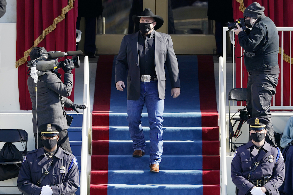 Country music star Garth Brooks stepped out in jeans at President Joe Biden's inauguration Wednesday, and people have opinions.