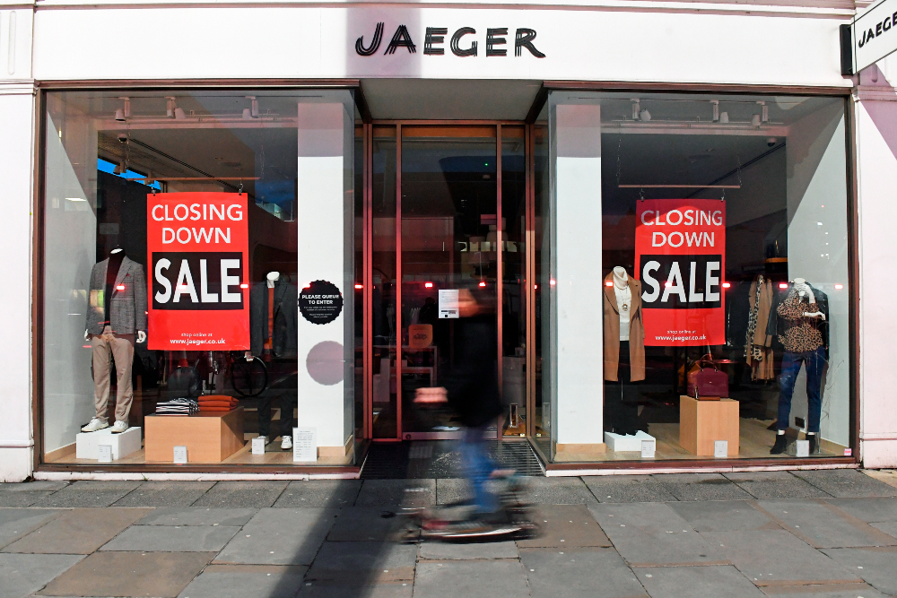 Marks and Spencer's acquisition of the bankrupt Jaeger fashion brand will result in 233 job cuts and 63 stores and concessions closed.