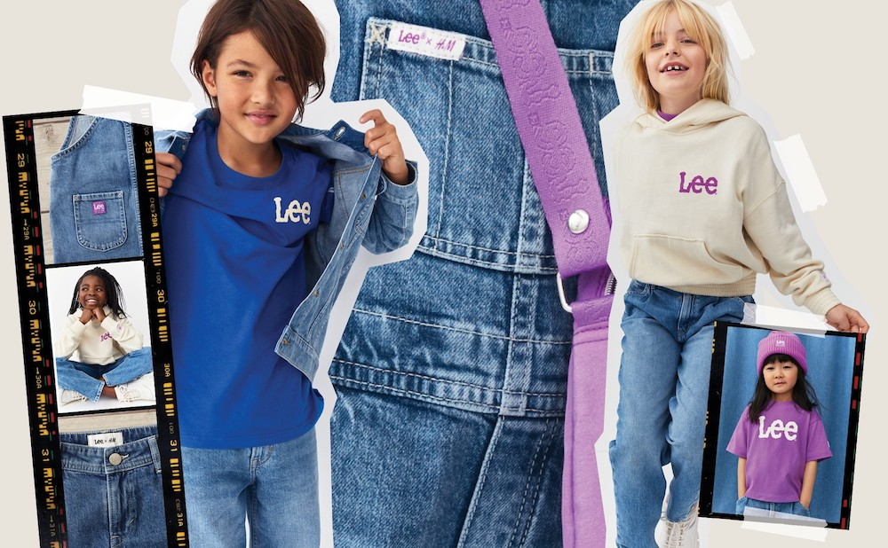 Lee and H&M are expanding their latest sustainable denim collection to include kids, in addition to men and women.
