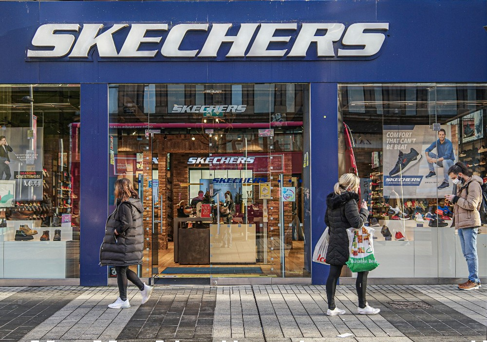 At the end of the quarter, 10 percent of Skechers stores were closed.
