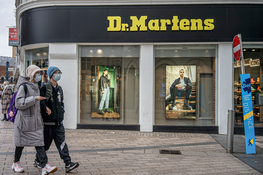 High investor demand for the IPO of British boot brand Dr. Martens on the London Stock Exchange puts the firm's valuation over $5 billion.