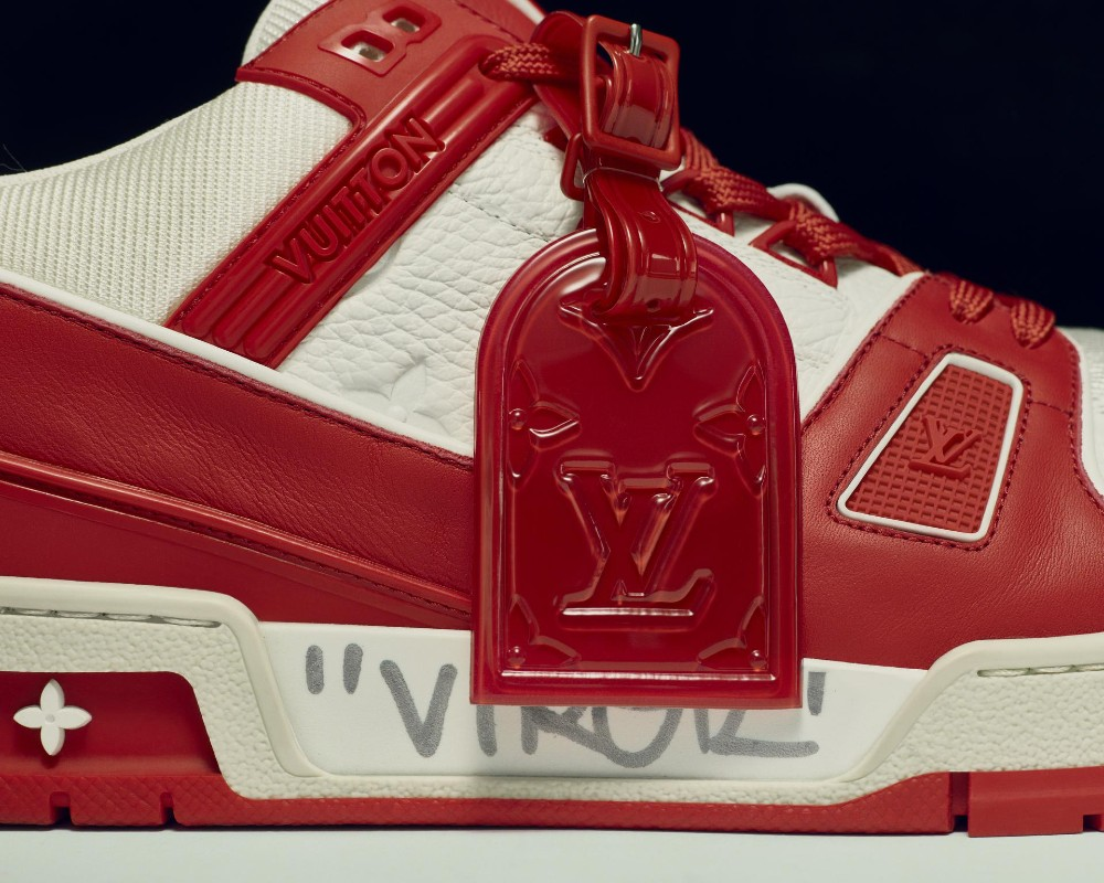 Sotheby's is auctioning off a pair of Louis Vuitton trainers signed by Virgil Abloh