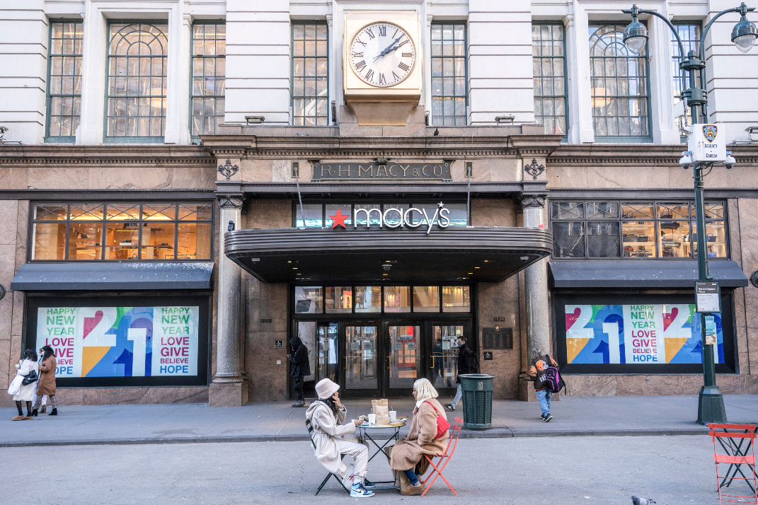 Polaris strategy helped Macy's weather 2020, but apparel sales remain down and not likely to show improvement until the back half of 2021.