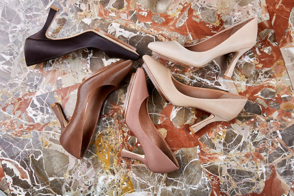 Salone Monet offers its nude heel in six colors
